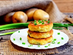 Печени картофени кюфтета със сирене на фурна - снимка на рецептата